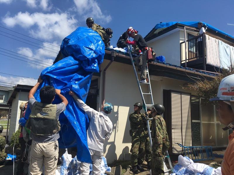 [【2019年9月関東上陸】台風15号に伴う被災地支援 (ピースウィンズ・ジャパン)]の画像